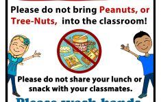 Printable Nut Free Signs