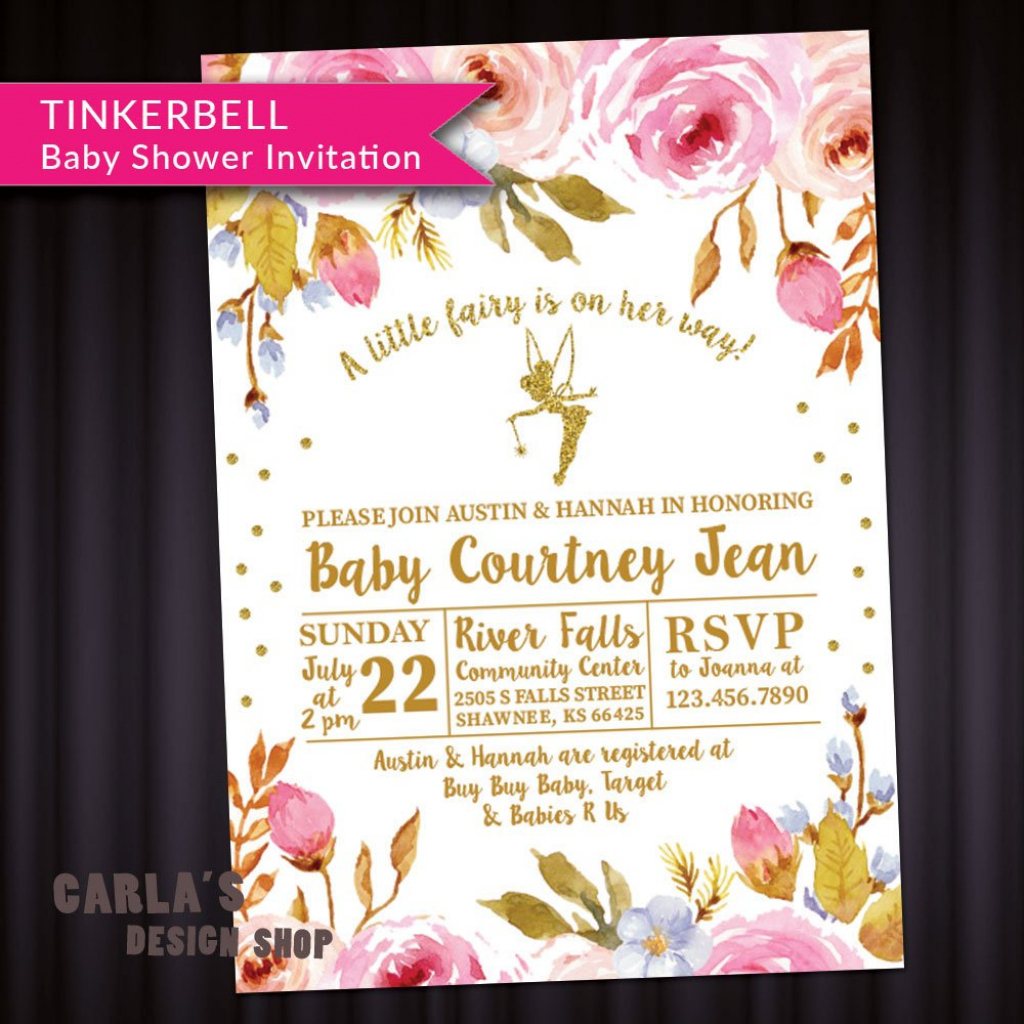 Tinkerbell Baby Shower Invitations | Baby Invitations - Free Printable Tinkerbell Baby Shower Invitations