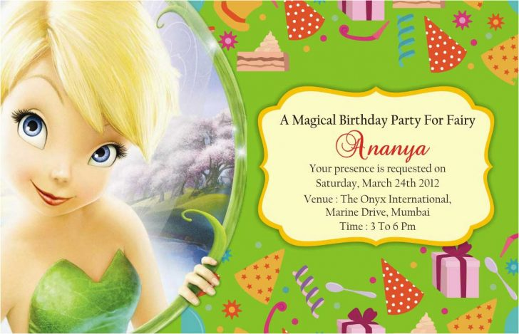 Free Tinkerbell Printable Birthday Invitations