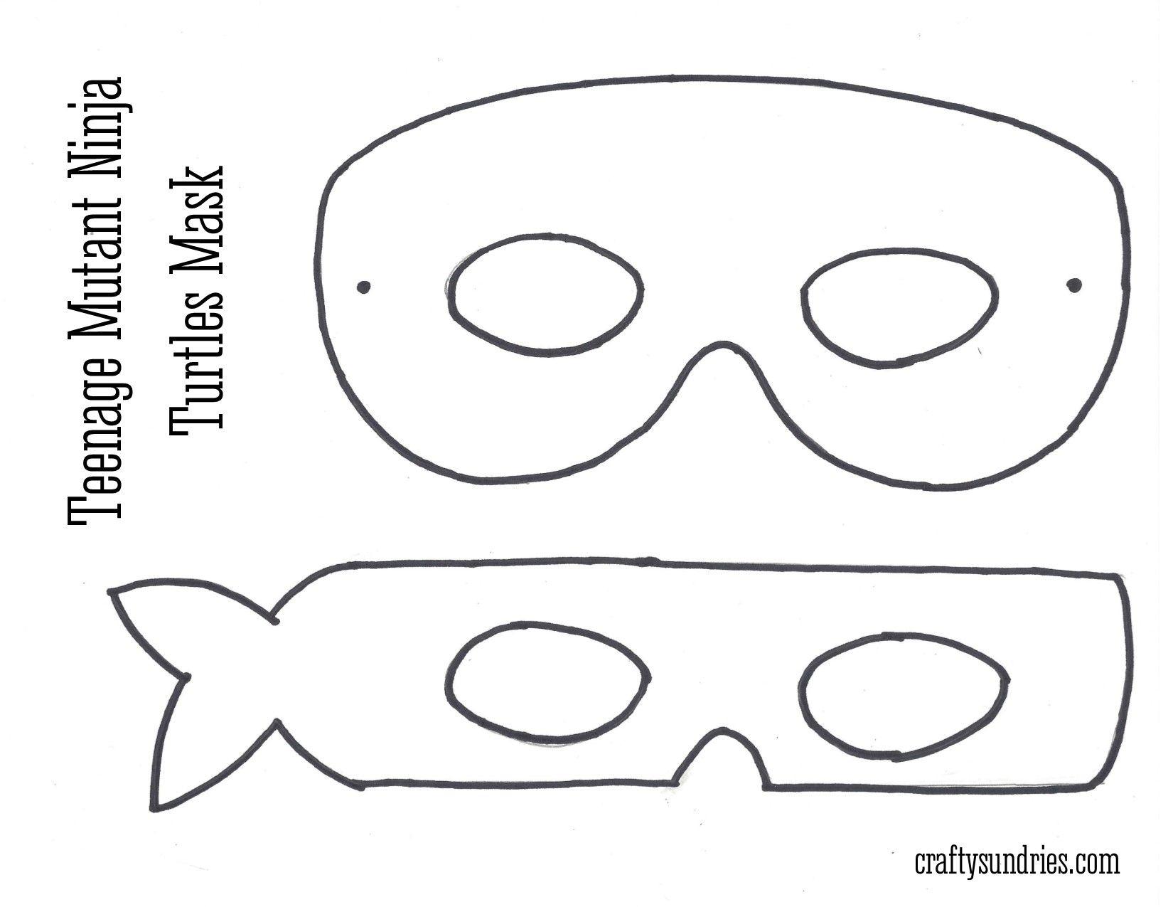 Tmnt Mask …   Work - Teenage Mutant Ninja Turtle   Pinterest   Ninja - Teenage Mutant Ninja Turtles Free Printable Mask