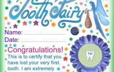 Tooth Fairy Certificate: Award For Losing Your Very First Tooth - Free Printable First Lost Tooth Certificate