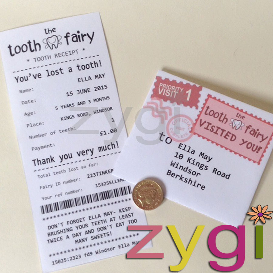 Tooth Fairy Kit Editable Receipt And Envelope - Editable Printables - Free Printable Tooth Fairy Letter And Envelope