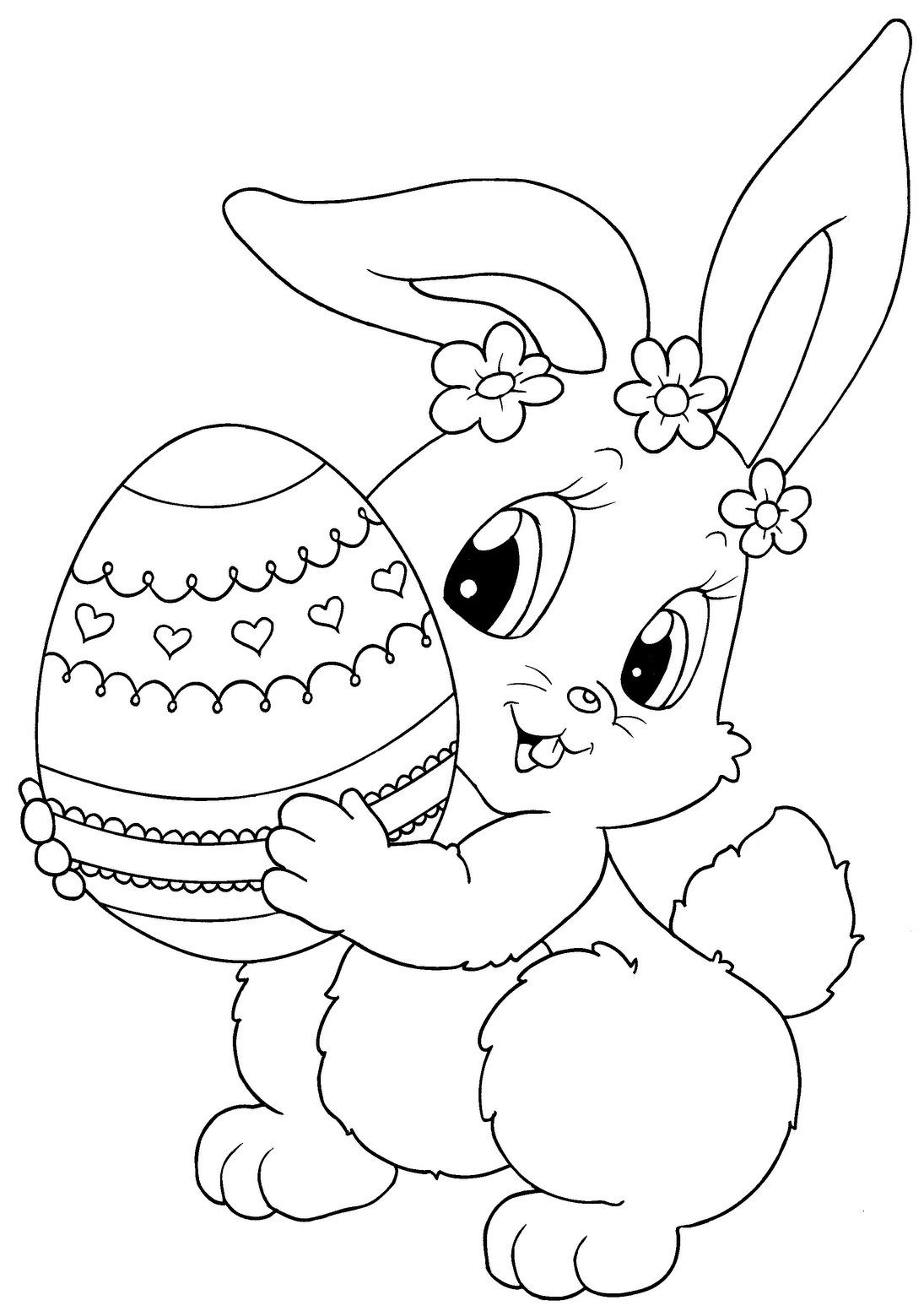 Top 15 Free Printable Easter Bunny Coloring Pages Online | Зентангл - Coloring Pages Free Printable Easter