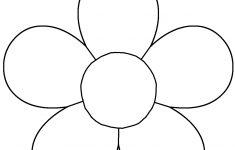 5 Petal Flower Template Free Printable