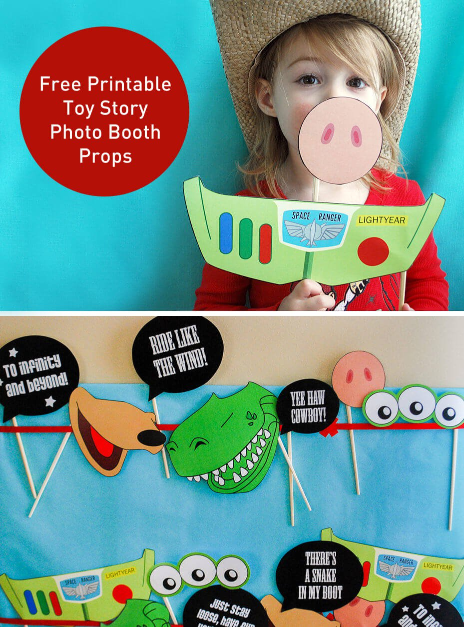 Toy Story Photo Booth Props {Free Printable Pdf} - Merriment Design - Toy Story Birthday Card Printable Free