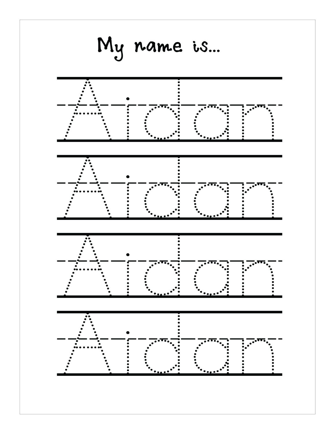 Tracing Name Sheets Handwriting Worksheetsseason Tracing Sheets - Free Printable Name Tracing Worksheets For Preschoolers