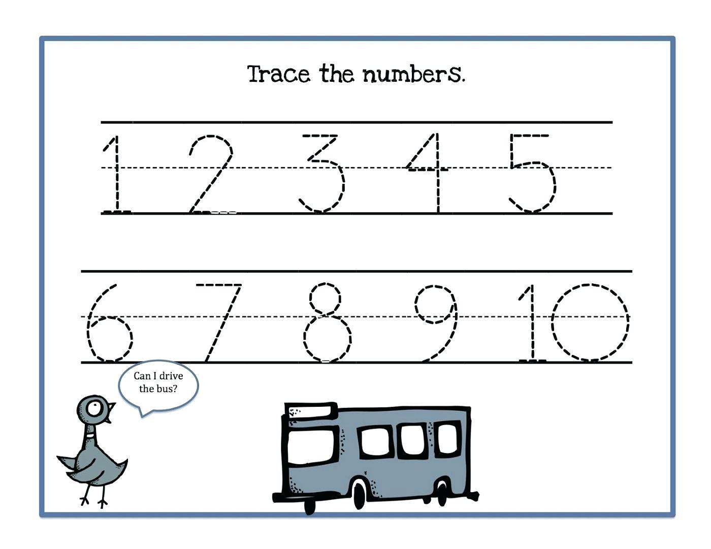 Tracing Numbers 1 10 Math Kindergarten Worksheets Numbers 1 Math 0 - Free Printable Mirrored Numbers
