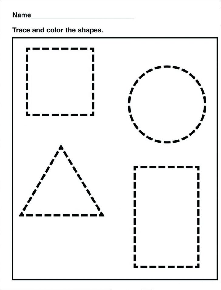 Free Printable Shapes Worksheets For Kindergarten
