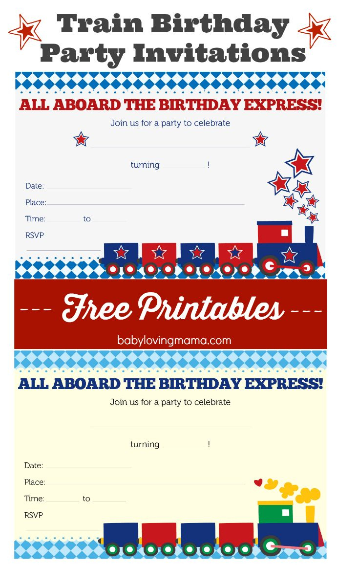 Train Birthday Party Invitations: Free Printables | Celebrate: Kid - Free Printable Train Pictures