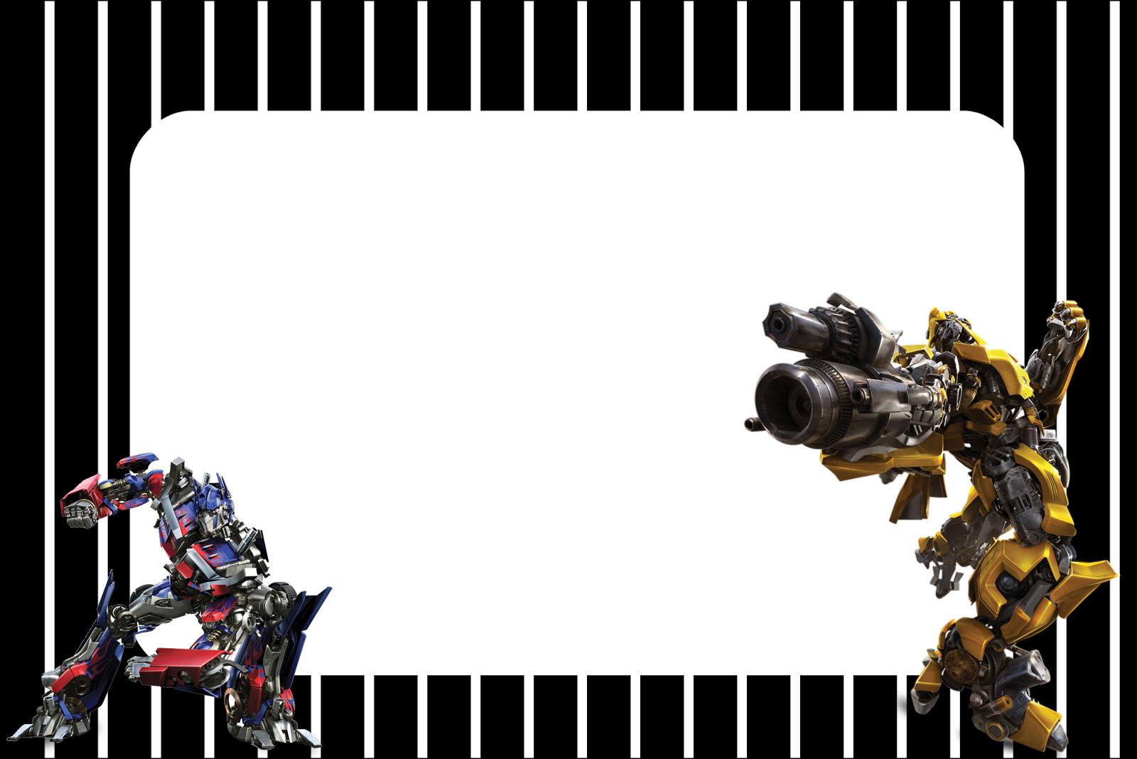 Transformers: Free Printable Invitations. - Oh My Fiesta! For Geeks - Transformers Party Invitations Free Printable