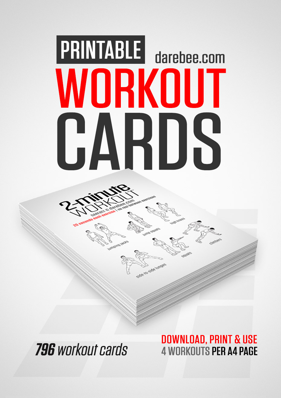 Travel Workout Cards - Free Printable Trx Workouts