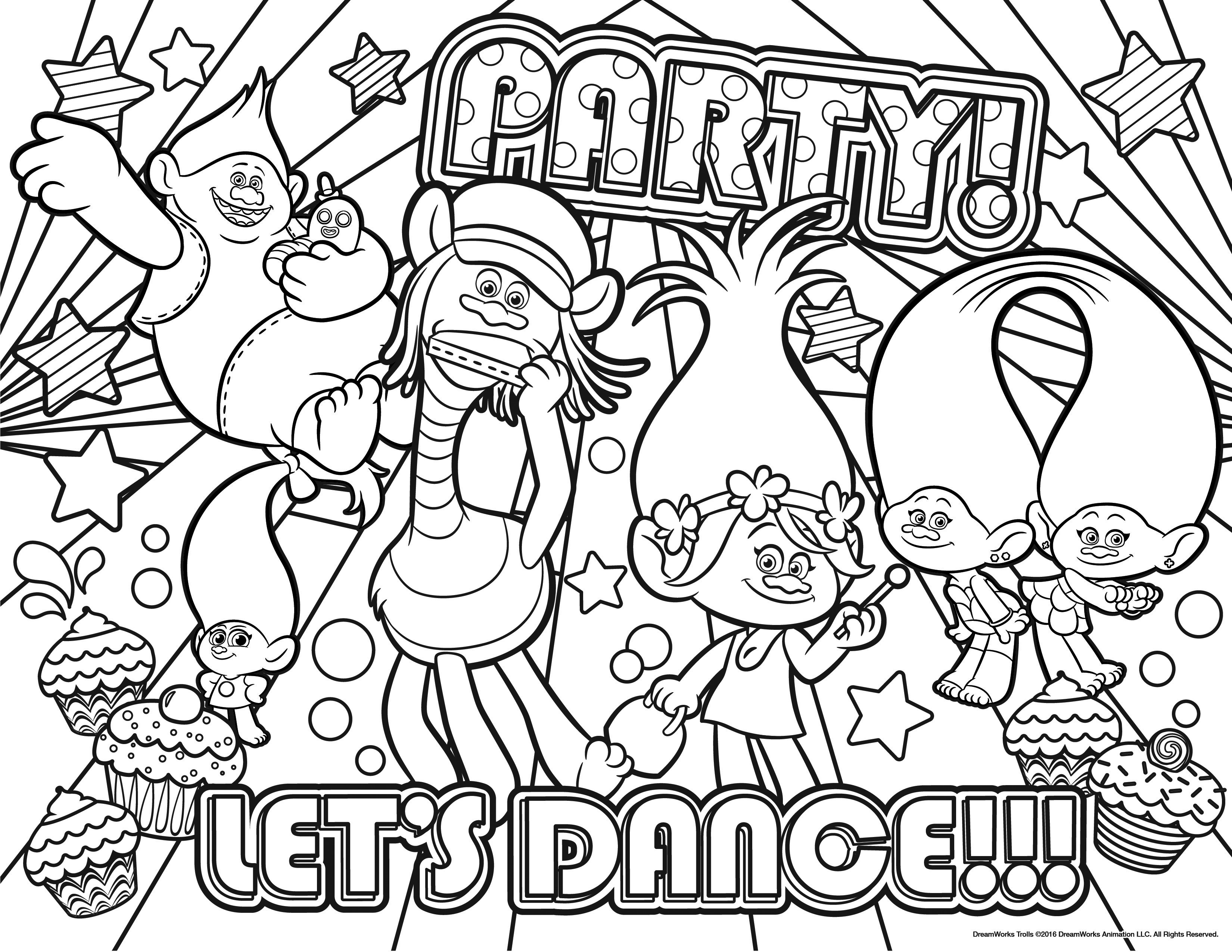 Troll Coloring Pages New Free Disney Trolls Printable Design 3300 - Free Printable Troll Coloring Pages