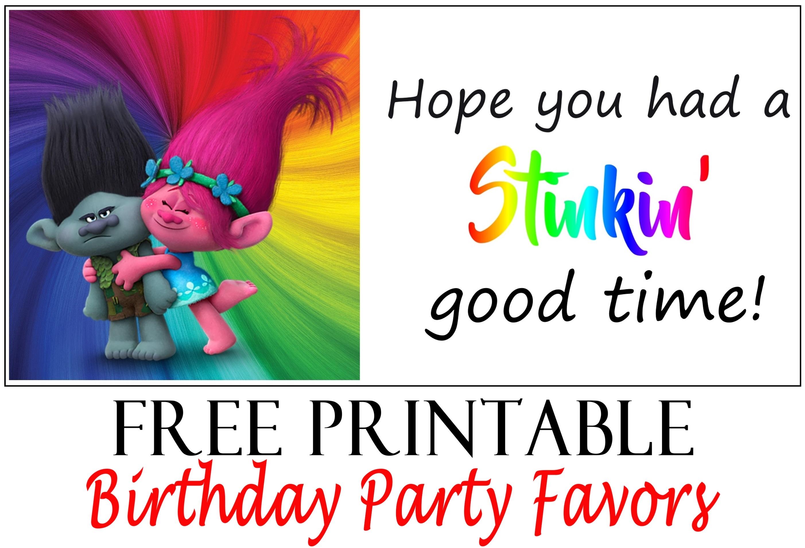 Trolls Birthday Party Printable Tags - Printables 4 Mom - Free Printable Trolls