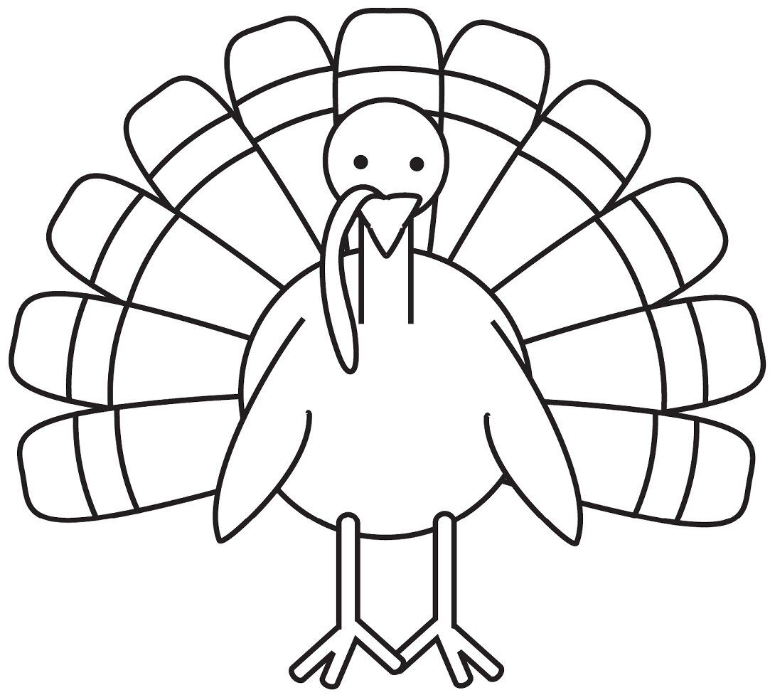 Turkey Coloring Page - Free Large Images | School Decoration Ideas - Free Printable Turkey Coloring Pages