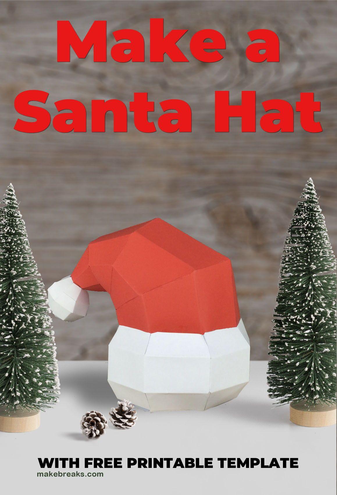 Tutorial: Make A Diy Santa Hat (With Free Template | Paper Models - Free Printable Santa Hat Patterns