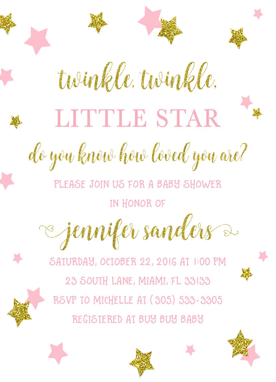 Twinkle Twinkle Little Star Baby Shower Invitation, Twinkle Twinkle - Free Printable Twinkle Twinkle Little Star Baby Shower Invitations