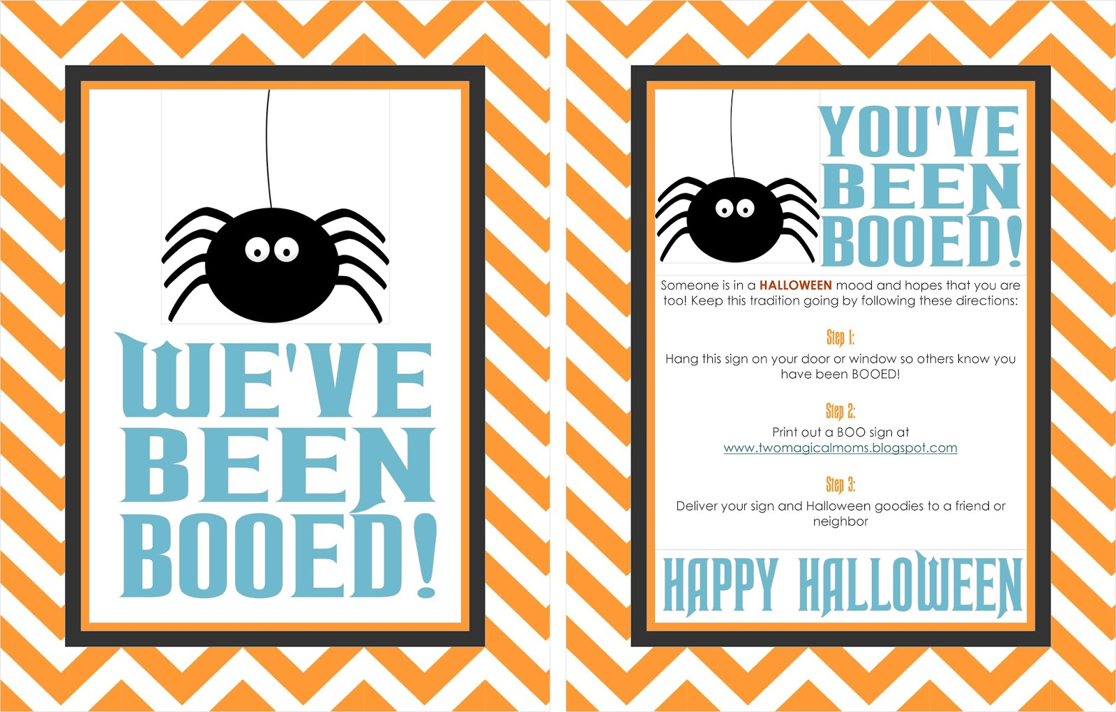 Two Magical Moms: Halloween- You've Been Booed! - You Ve Been Booed Free Printable