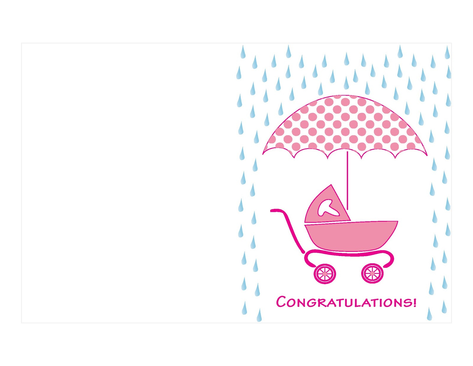 Twocreativewomen More Free Greeting Card Printables Salmon Shower - Free Printable Baby Shower Card
