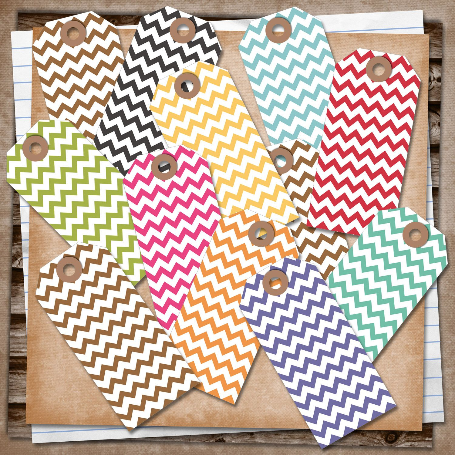 U Printablesrebeccab: Free Printable - Chevron Tags | Printables - Free Printable Chevron Labels
