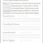 U.s. Constitution   Informational Text, Primary Source, And | Free   Free Printable Us Constitution Worksheets