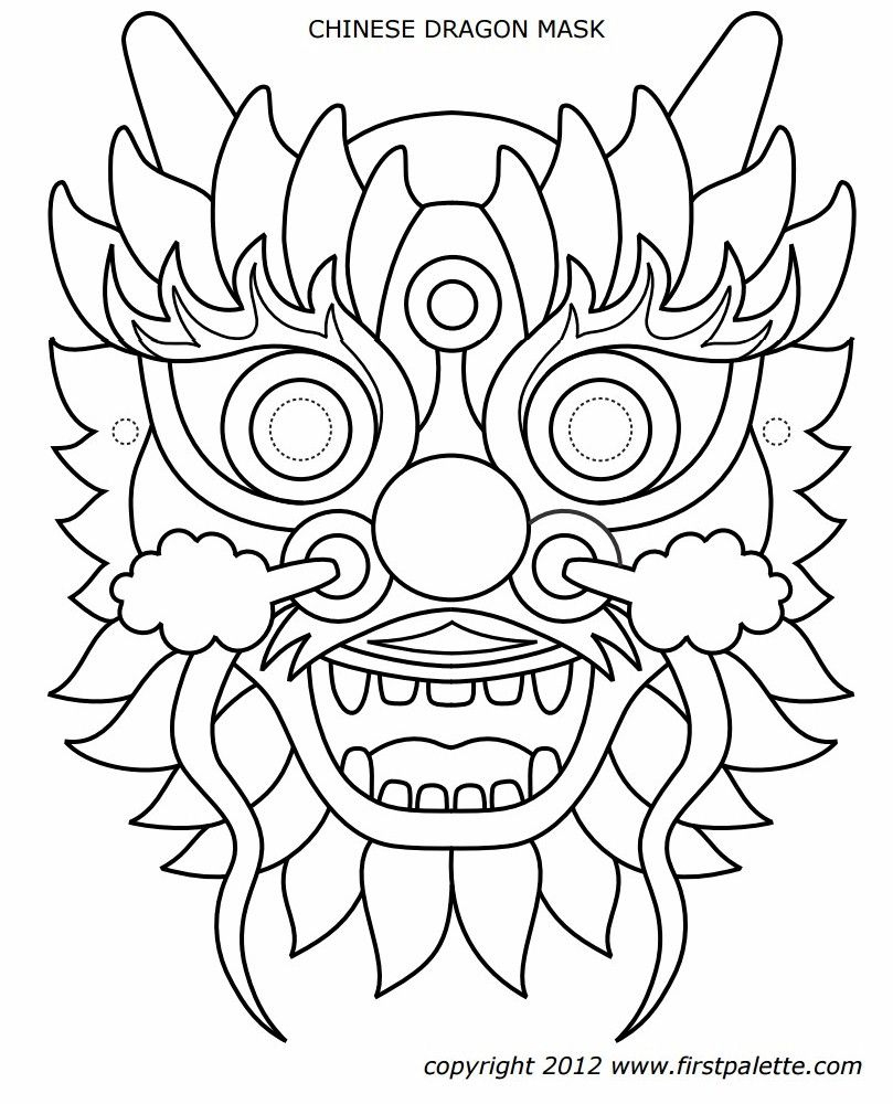 Un Masque De Dragon … | Fashion - Apparel - My Style | Drago… - Dragon Mask Printable Free