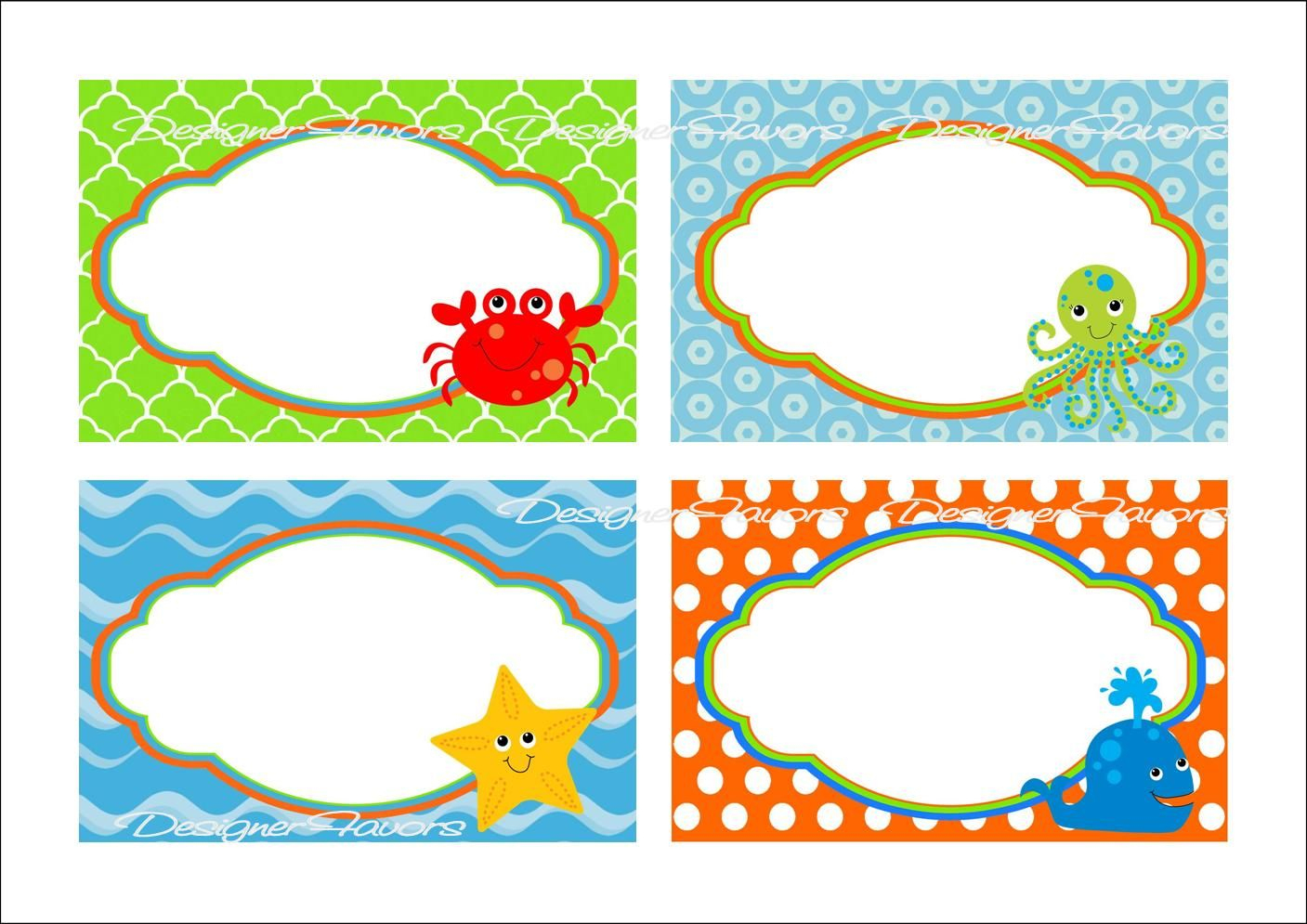 Under The Sea Food Labels Free Printable Tags - Imagestack   Graduation - Free Printable Food Labels