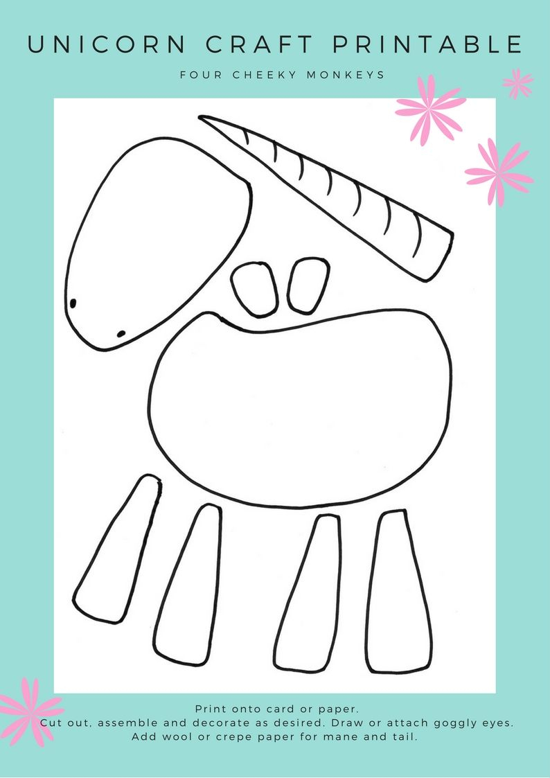 Unicorn Craft Activity: Flower Crown And Free Printables | Areglosde - Free Printable Crafts