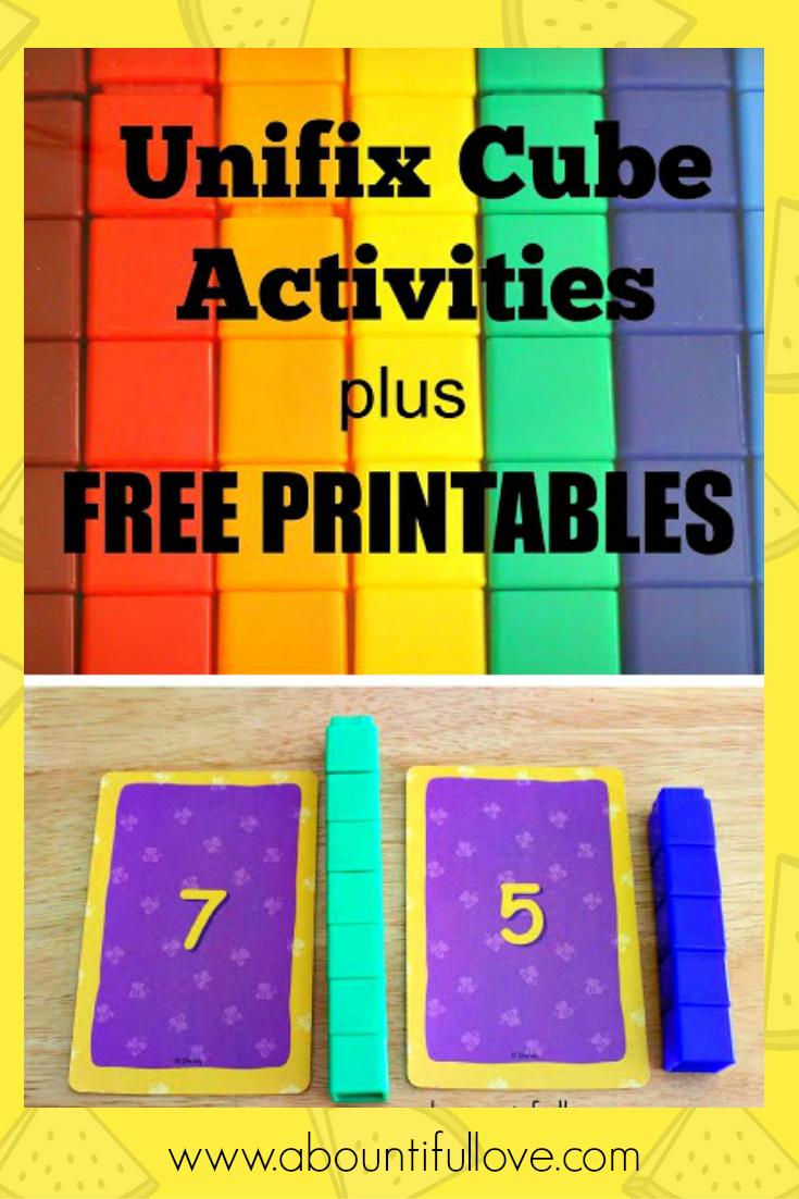 Unifix Cubes Activities Plus Free Printables | Snap Cards | Math - Free Printable Snap Cards