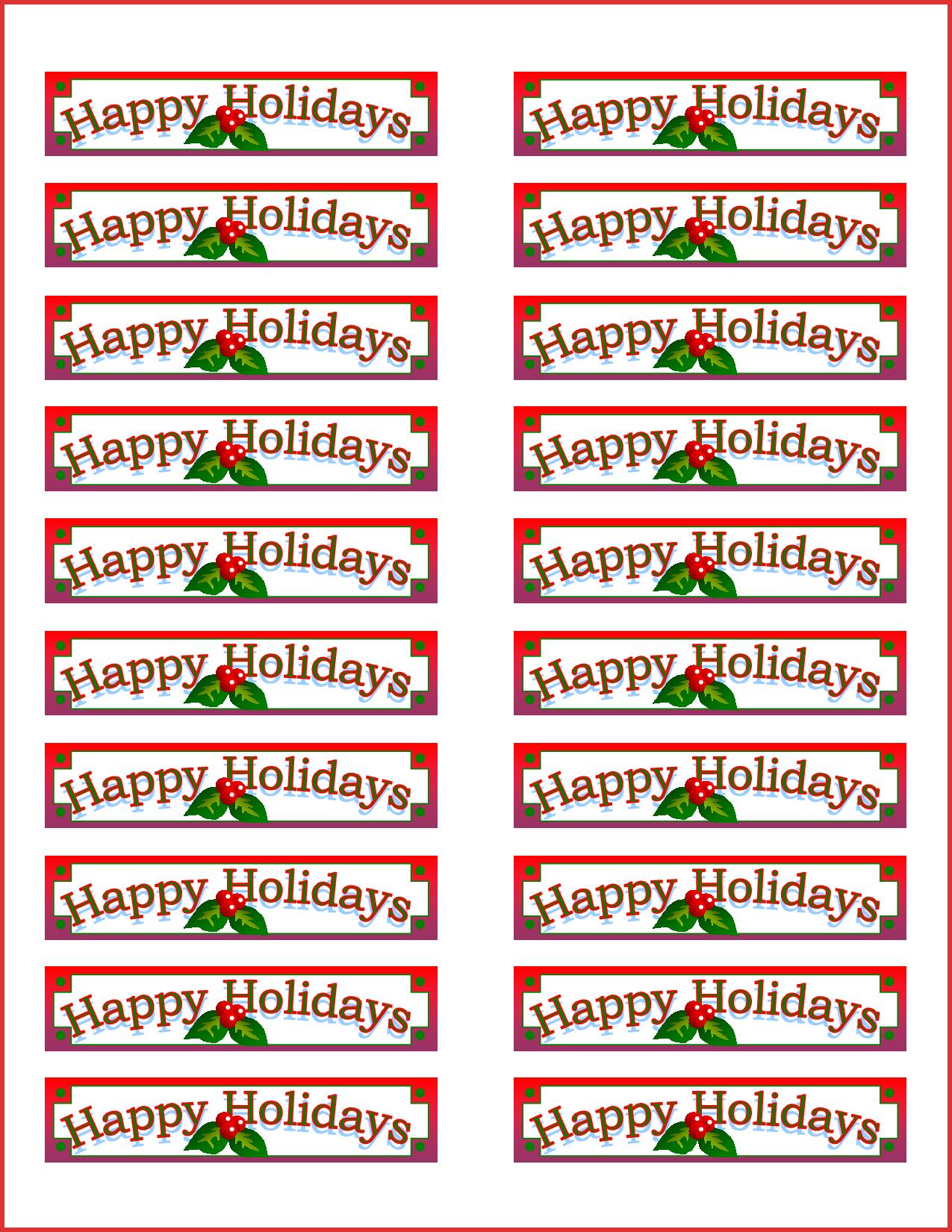 Unique Address Labels Template | Npfg Online - Free Printable Christmas Return Address Label Template