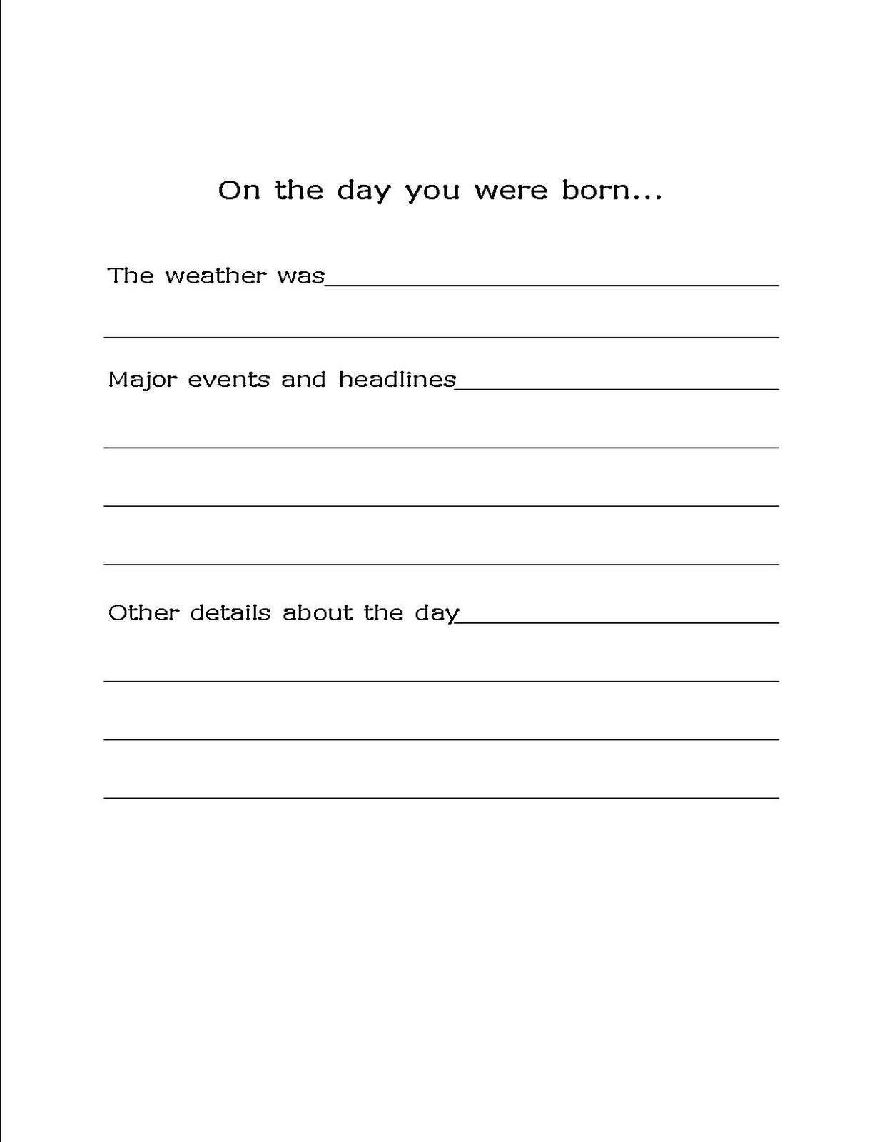 Update** Our Homemade Baby Book - With Free Printables - Bare Feet - Free Printable Baby Memory Book