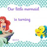 Updated! Free Printable Ariel The Little Mermaid Invitation   Free Little Mermaid Printable Invitations