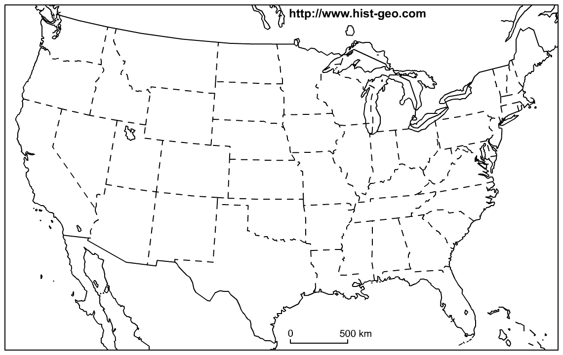 Us Map Blank Printable - Free Printable Map Of The United States