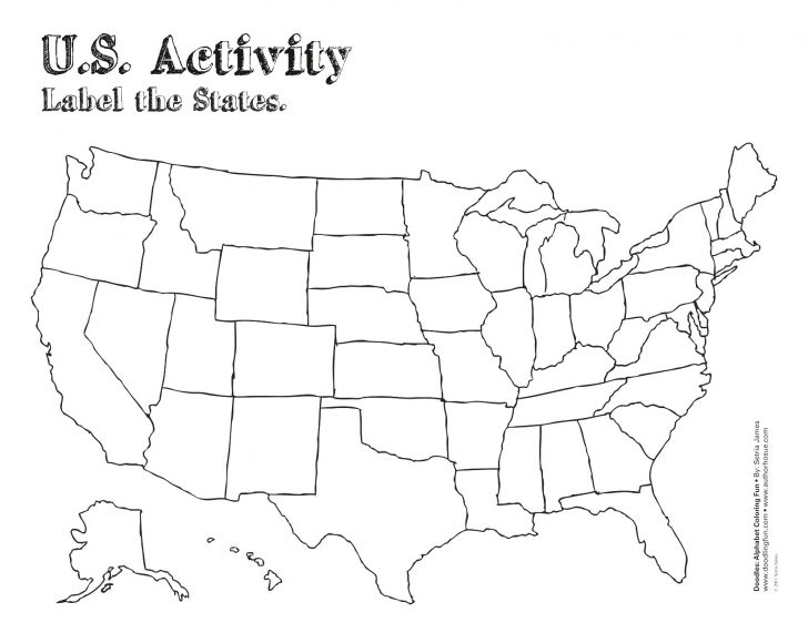 Free Printable Outline Map Of United States