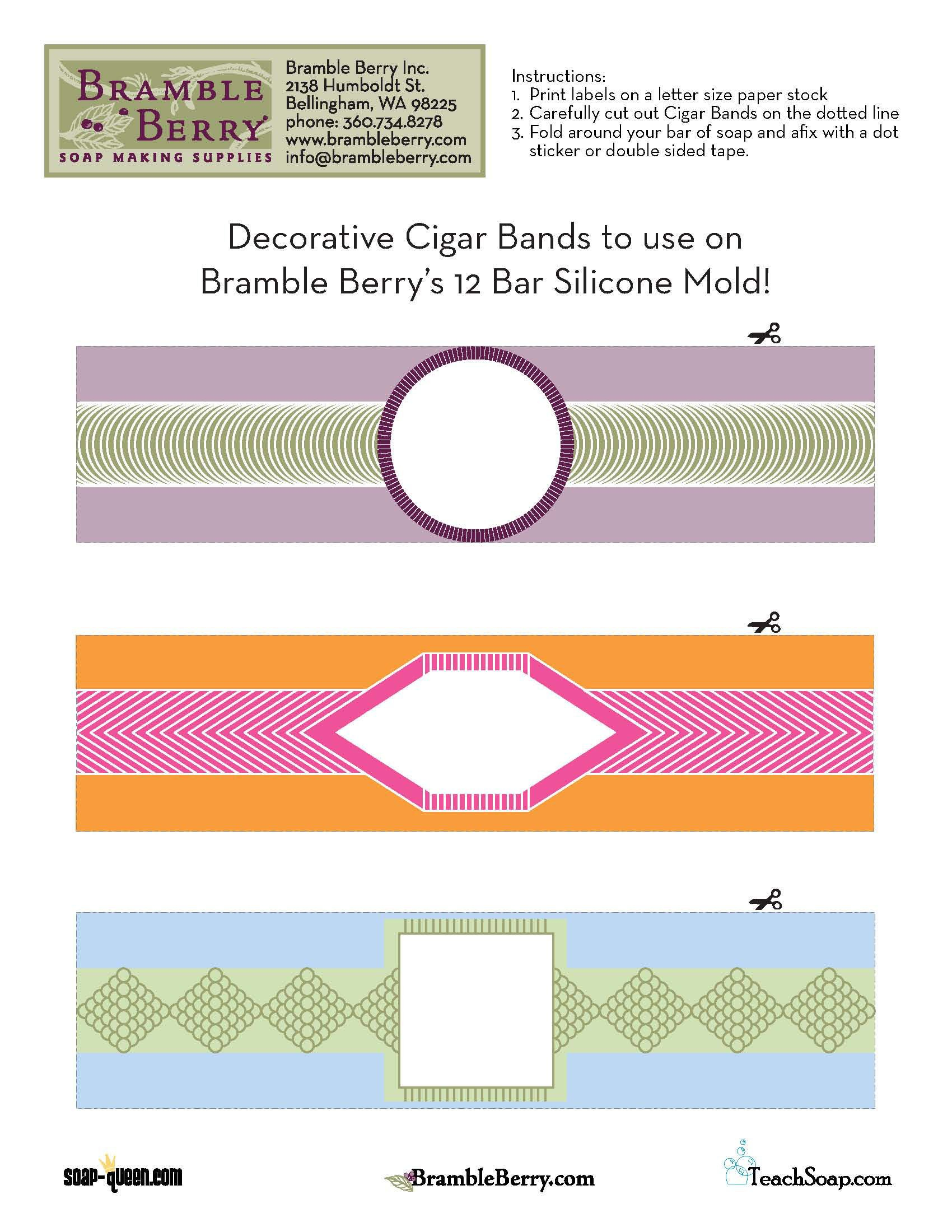 Use Our Free Label File To Print Out And Make Your Own Cigar Band - Free Printable Cigar Label Template
