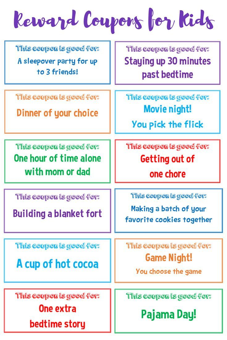 Use These Free Printable Reward Coupons For Kids To Positively - Free Printable Science Diet Coupons