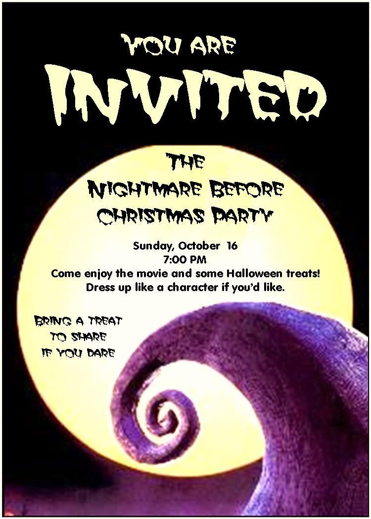 Utah County Mom: Nightmare Before Christmas Party | Party - Free Printable Nightmare Before Christmas Birthday Invitations