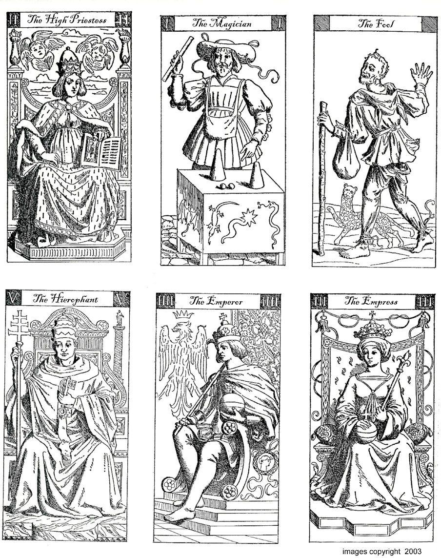 Vacchetta Tarot Deck - To Print And Colour | Digital Downlaod Sites - Free Printable Tarot Cards