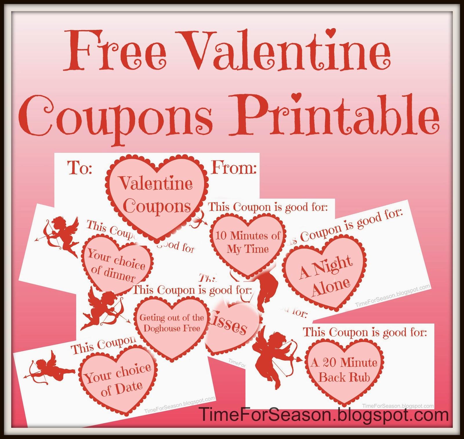 Valentine Coupons - Free Printable - Free Printable Coupons 2014