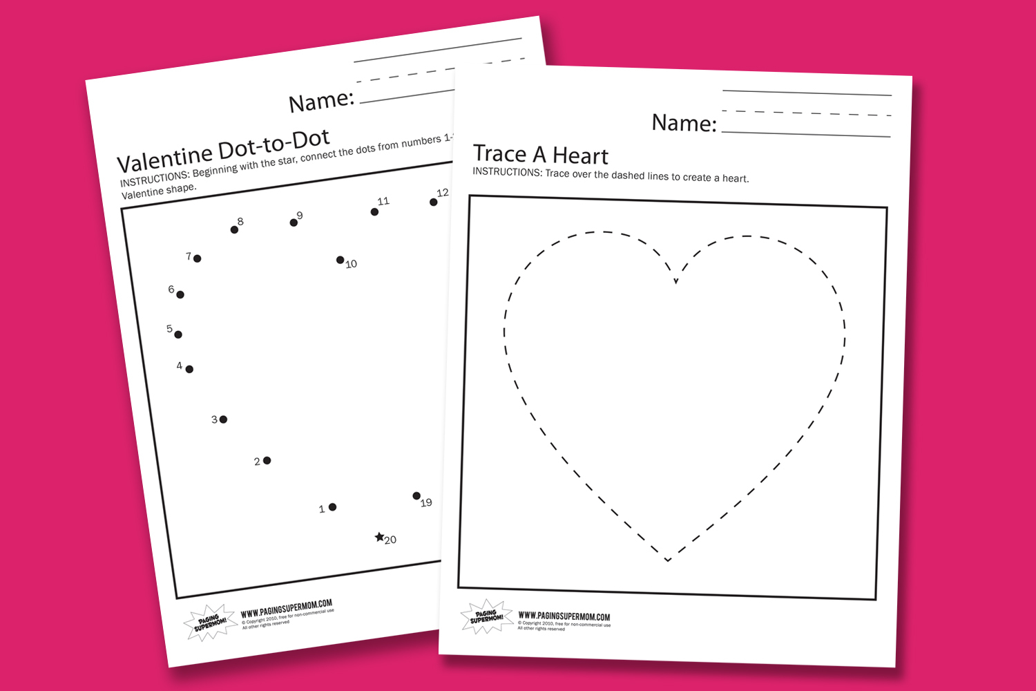 Valentine Worksheets - Paging Supermom - Free Printable Preschool Valentine Worksheets