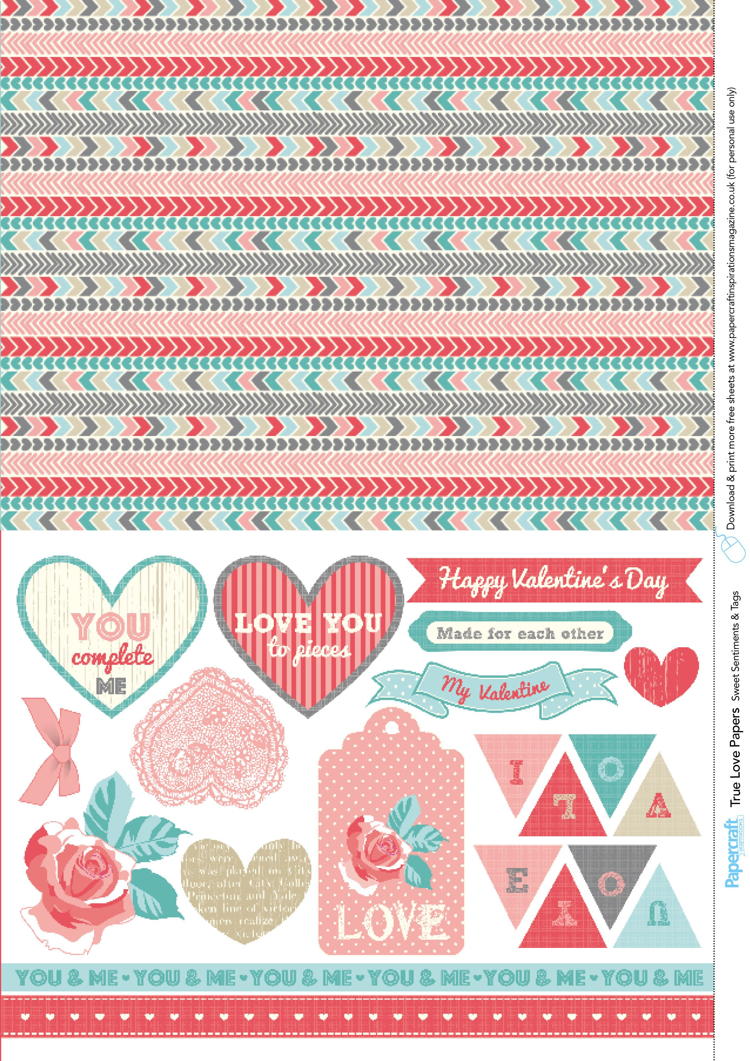 Valentine's Day Free Printable Papers | Papper Pattern | Pinterest - Free Printable Pattern Paper Sheets