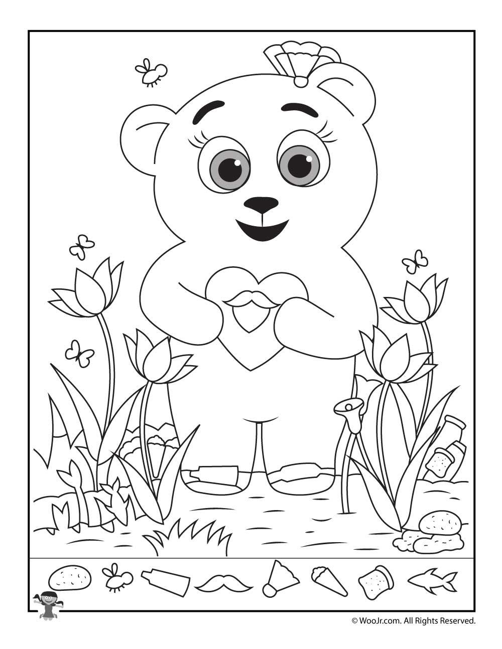 Valentine's Day Hidden Pictures Activity Pages | Woo! Jr. Kids - Free Printable Valentine Hidden Pictures