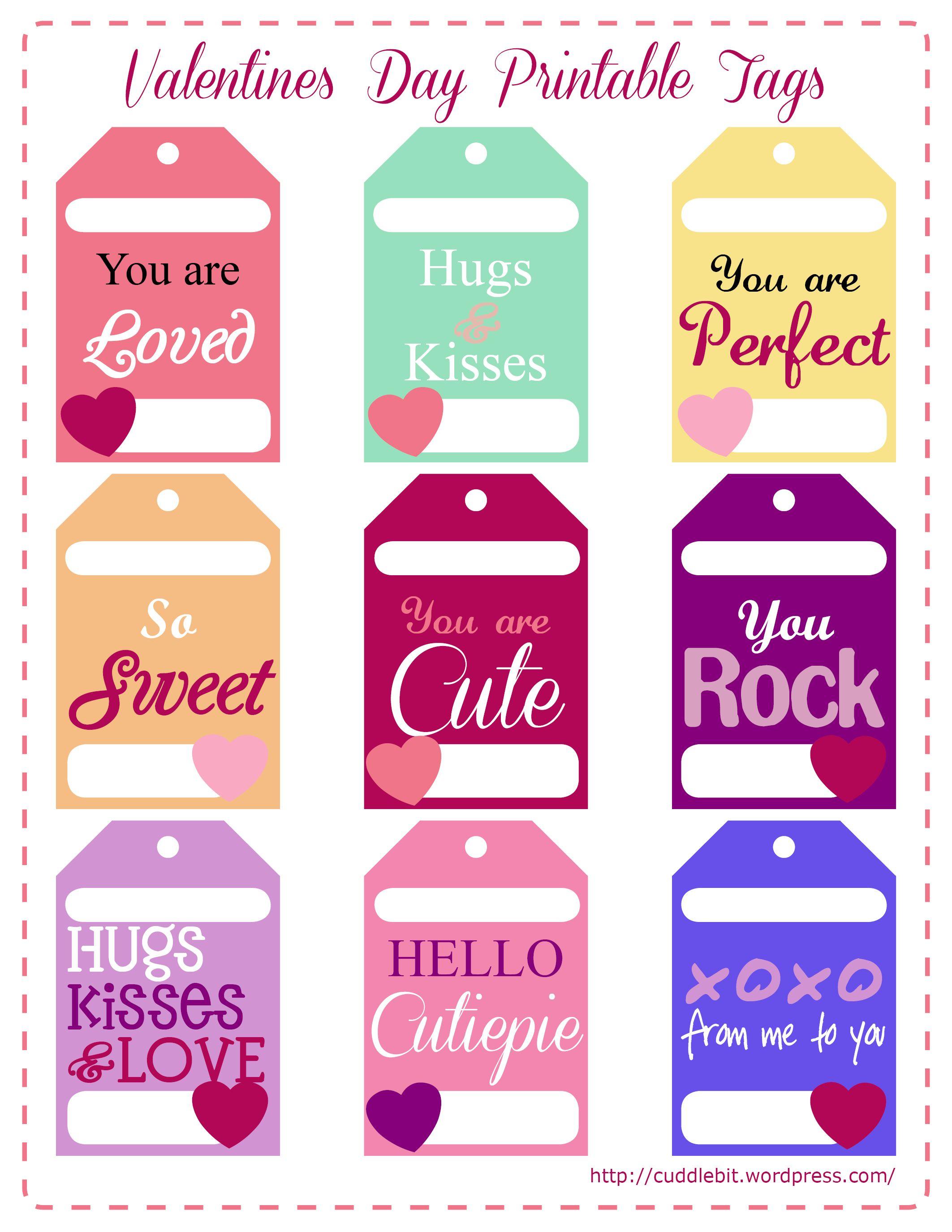 Valentine's Day Love Packs   So Stinking Cute!!   Valentines - Free Printable Valentine Tags
