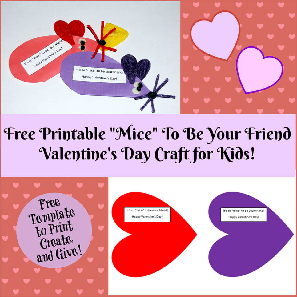 Valentine's Day Printable Card Crafts For Kids To Create! | Wikki Stix - Free Printable Valentines Day Cards For Kids