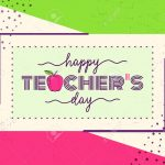 Vector Illustration Of Happy Teachers Day. Greeting Design For   Free Printable Teacher's Day Greeting Cards
