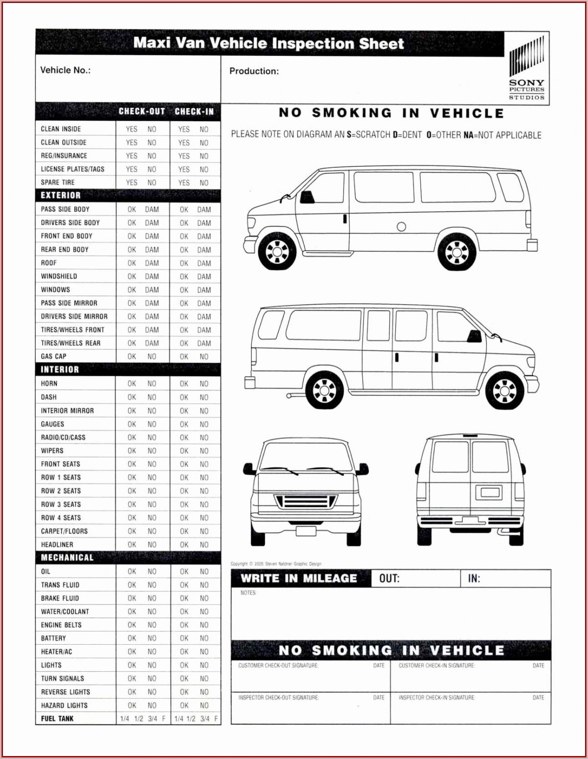 Vehicle Inspection Form Template Pdf - Template 1 : Resume Examples - Free Printable Vehicle Inspection Form