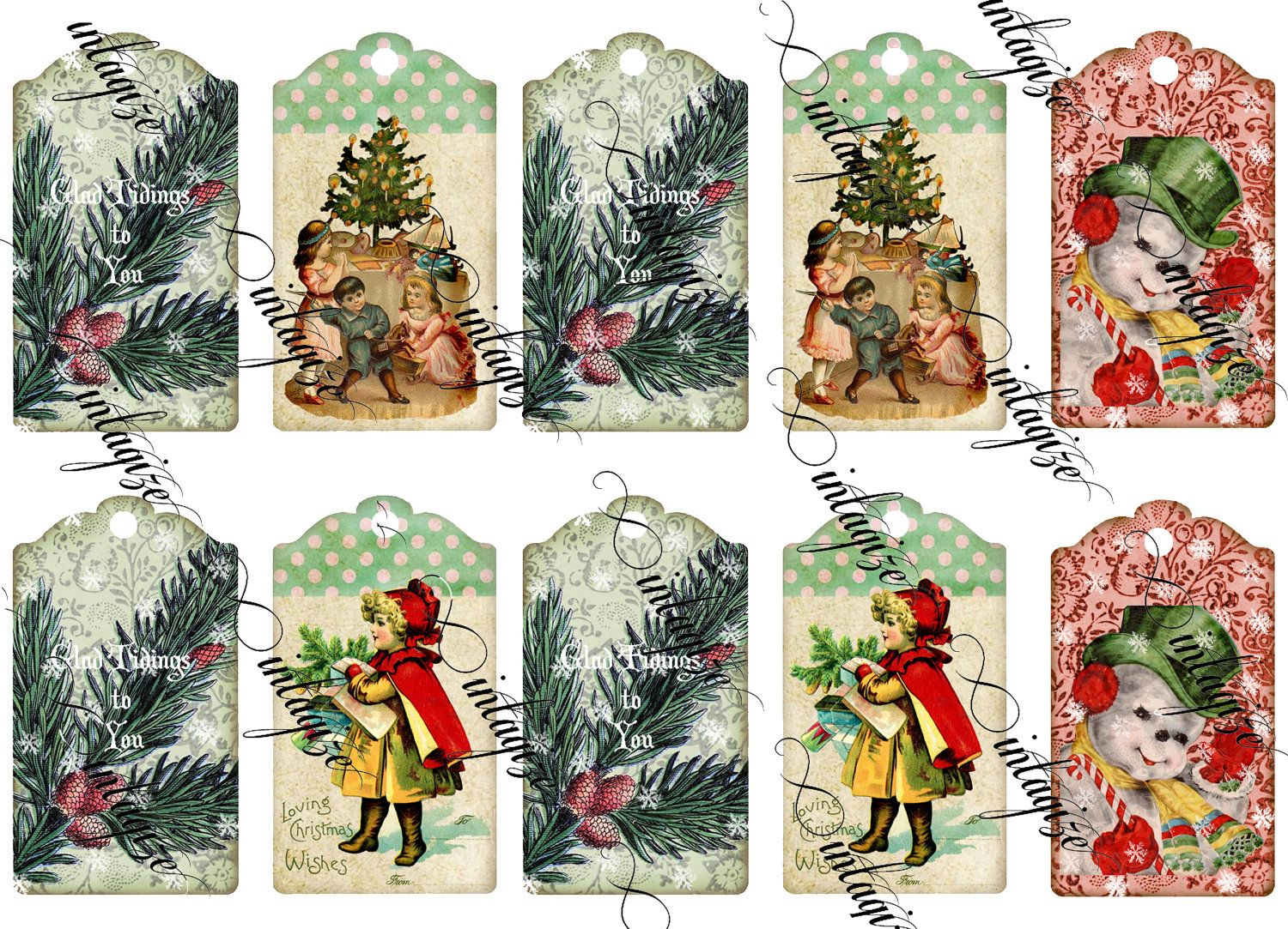 Vintage Christmas Gift Tags Printable Free – Festival Collections - Free Printable Vintage Christmas Tags For Gifts