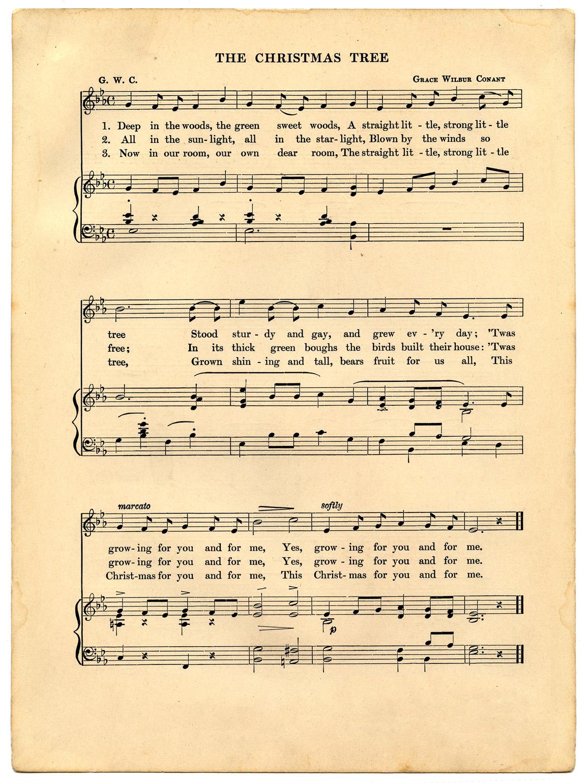 Vintage Christmas Sheet Music Printable - The Graphics Fairy - Christmas Carols Sheet Music Free Printable