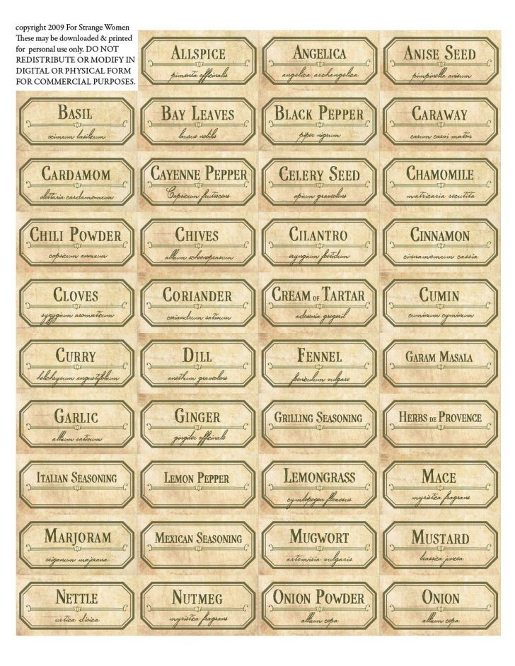 Free Printable Old Fashioned Labels