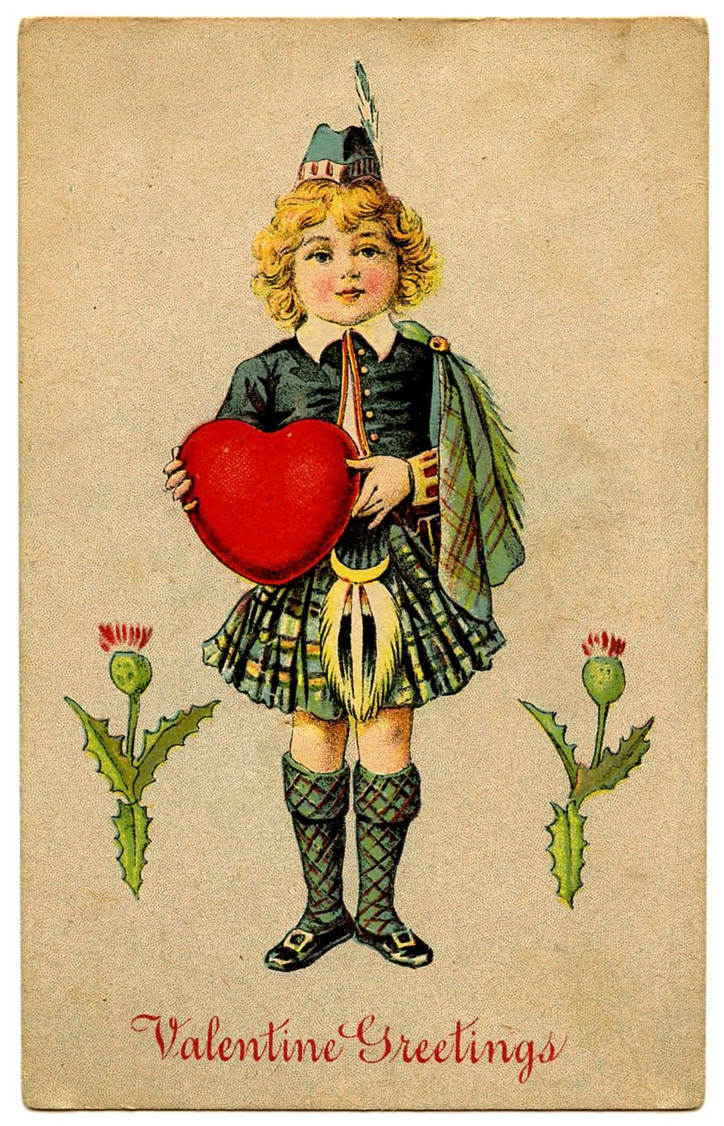 Vintage Valentine Clip Art - The Graphics Fairy - Free Printable Vintage Valentine Clip Art