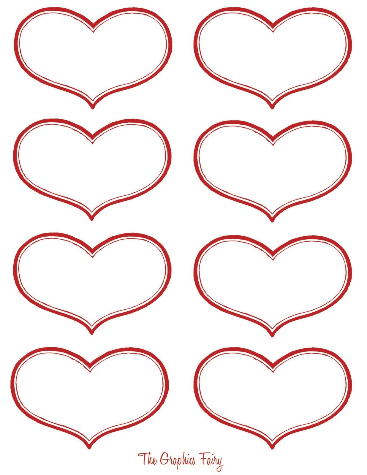 Vintage Valentine Printable - Antique Heart Labels | Download - Free Printable Heart Labels